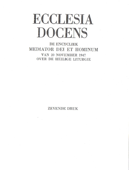 Mediator Dei