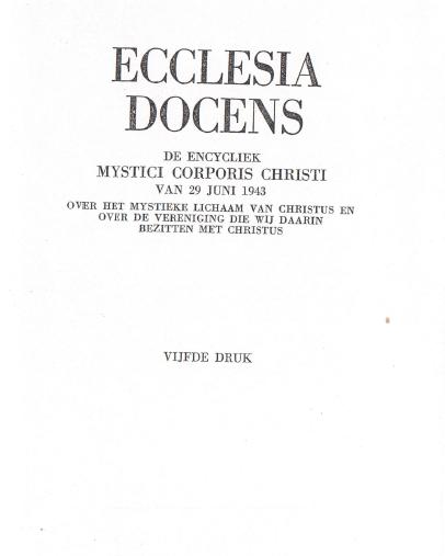 Mystici Corporis Christi